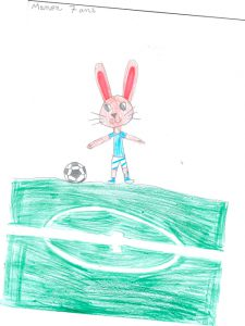 Dessine un animal footballeur - Manon