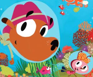 Enquête sous l'océan avec Super-Ouaf dans J'apprends à lire magazine