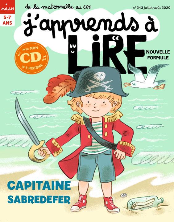 Capitaine Sabredefer magazine J'apprends à lire - juillet