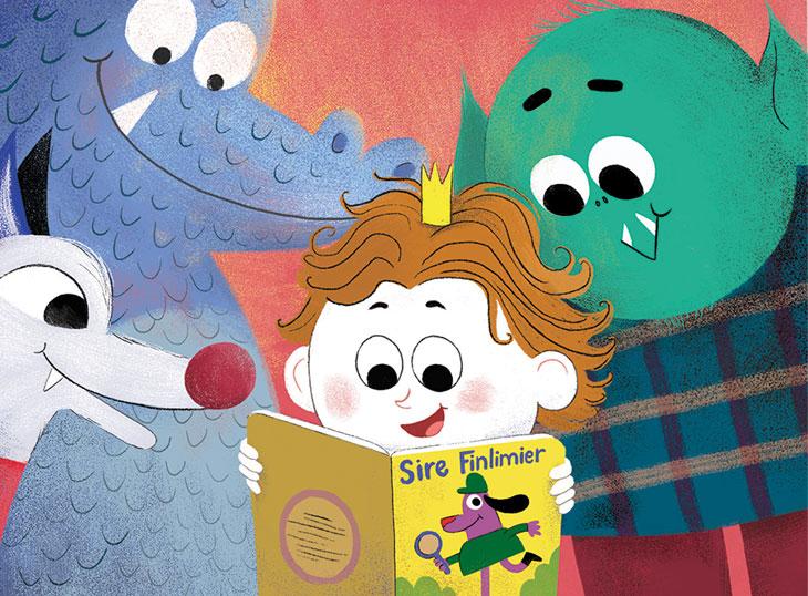 image magazine J'apprends à lire -illustration Elise Garcette